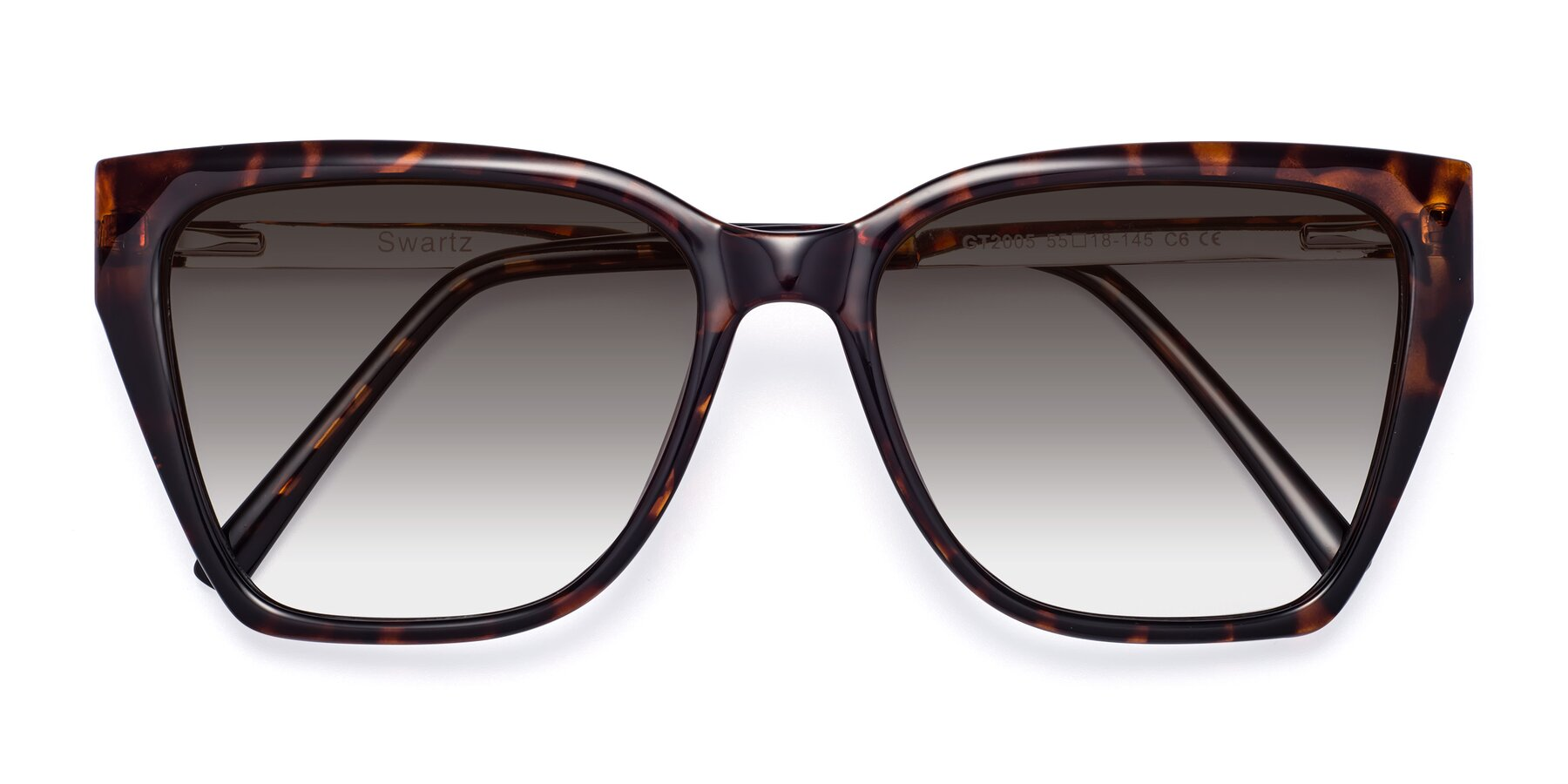 Folded Front of Swartz in Tortoise with Gray Gradient Lenses
