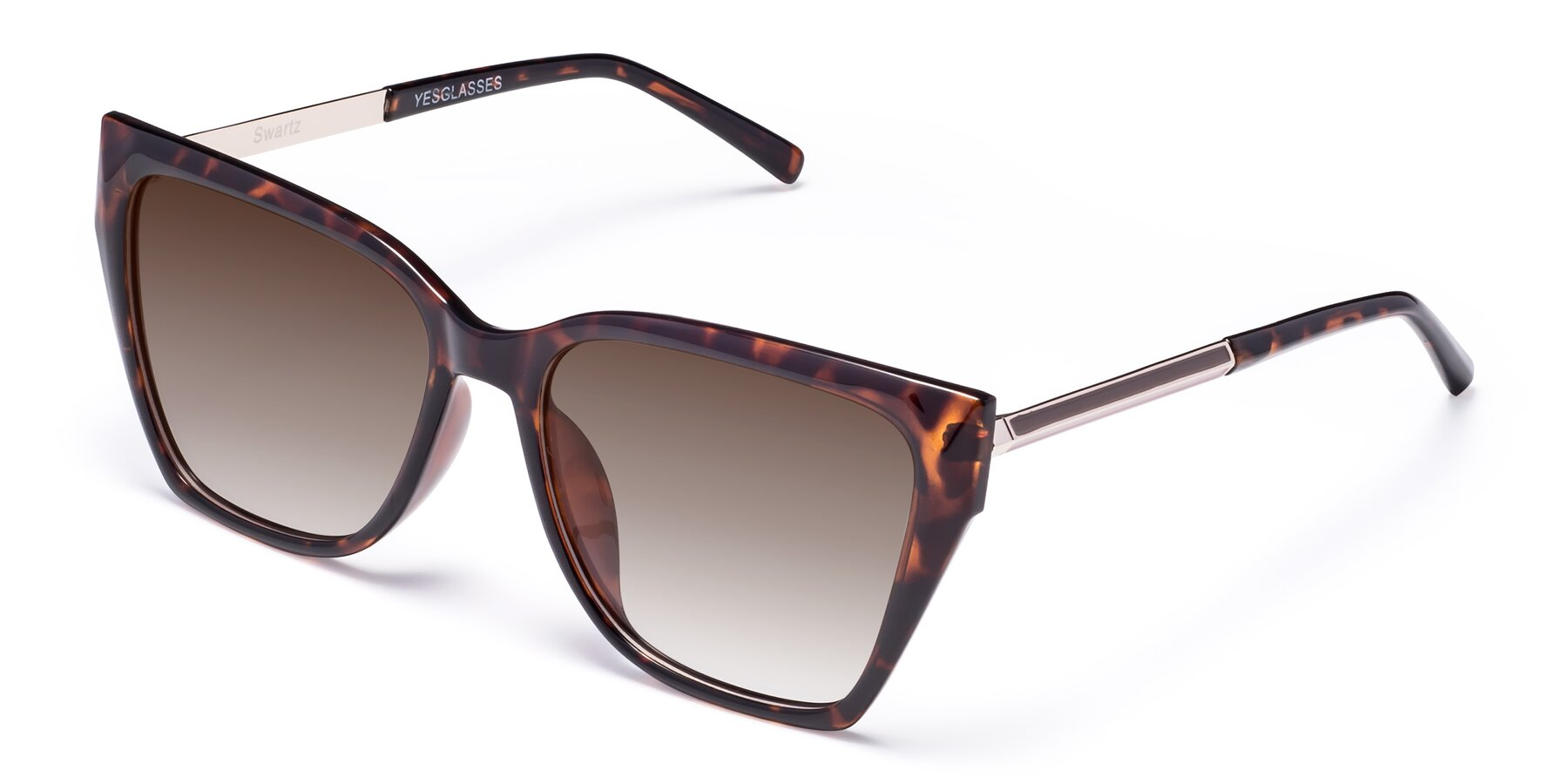Angle of Swartz in Tortoise with Brown Gradient Lenses