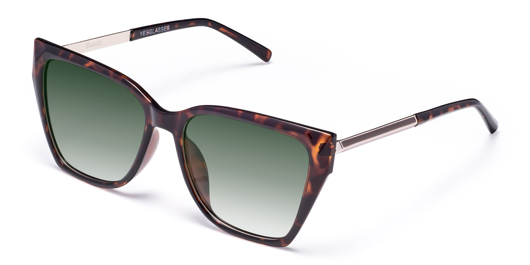 Angle of Swartz in Tortoise with Green Gradient Lenses