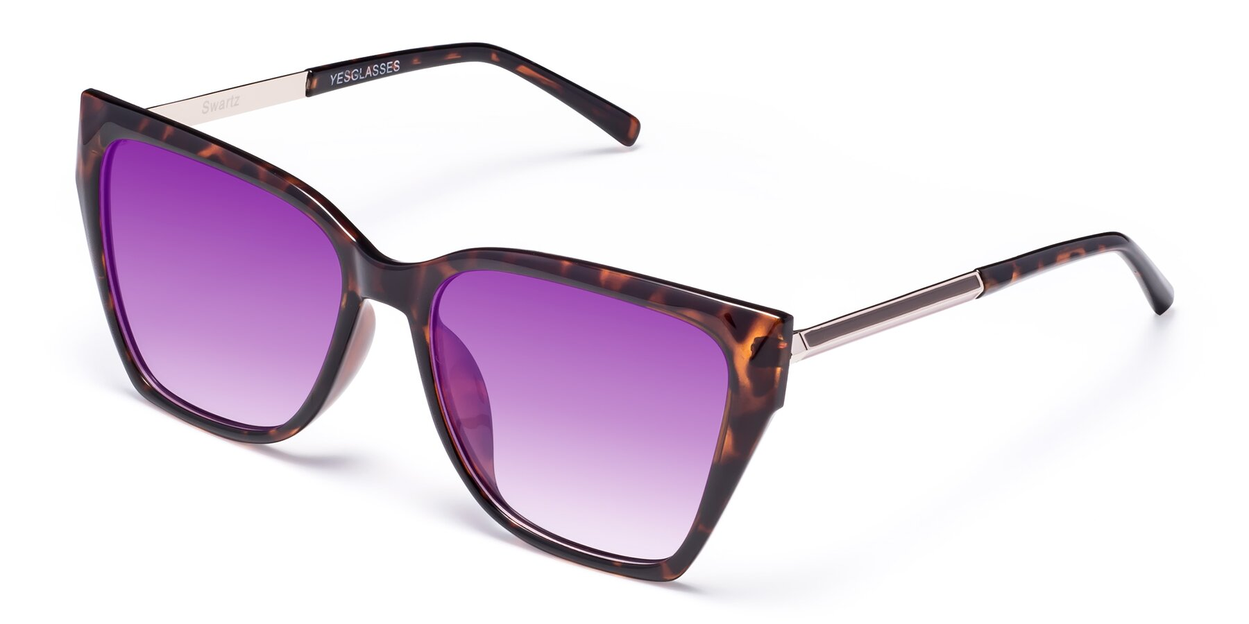 Angle of Swartz in Tortoise with Purple Gradient Lenses