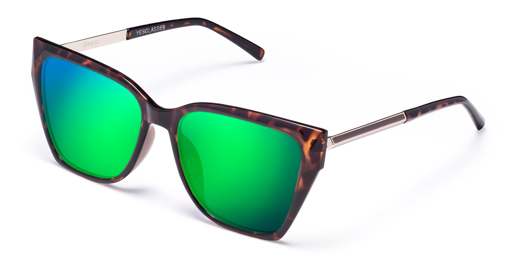 Angle of Swartz in Tortoise with Green Mirrored Lenses