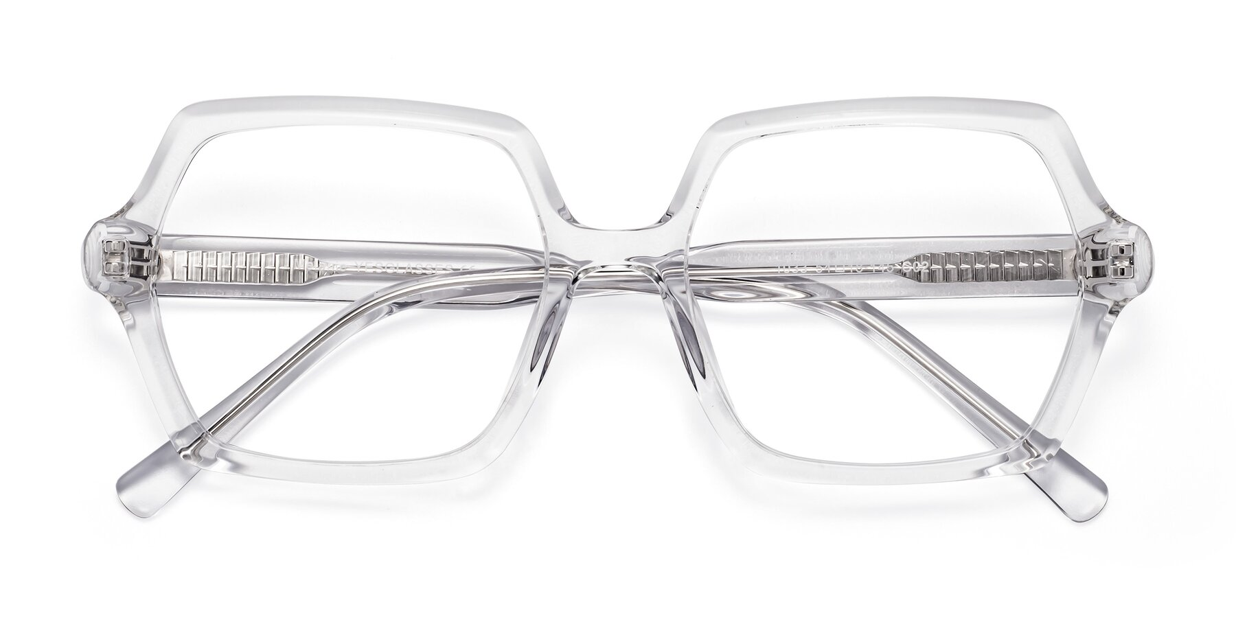 Folded Front of Melanie in Clear with Clear Eyeglass Lenses