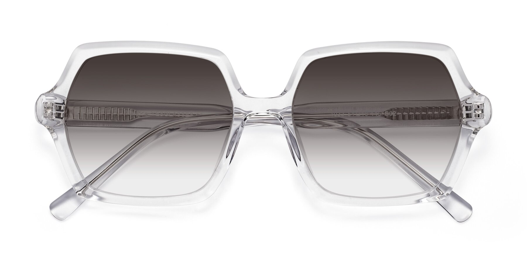 Folded Front of Melanie in Clear with Gray Gradient Lenses