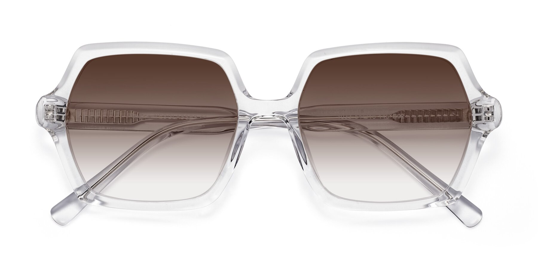 Folded Front of Melanie in Clear with Brown Gradient Lenses