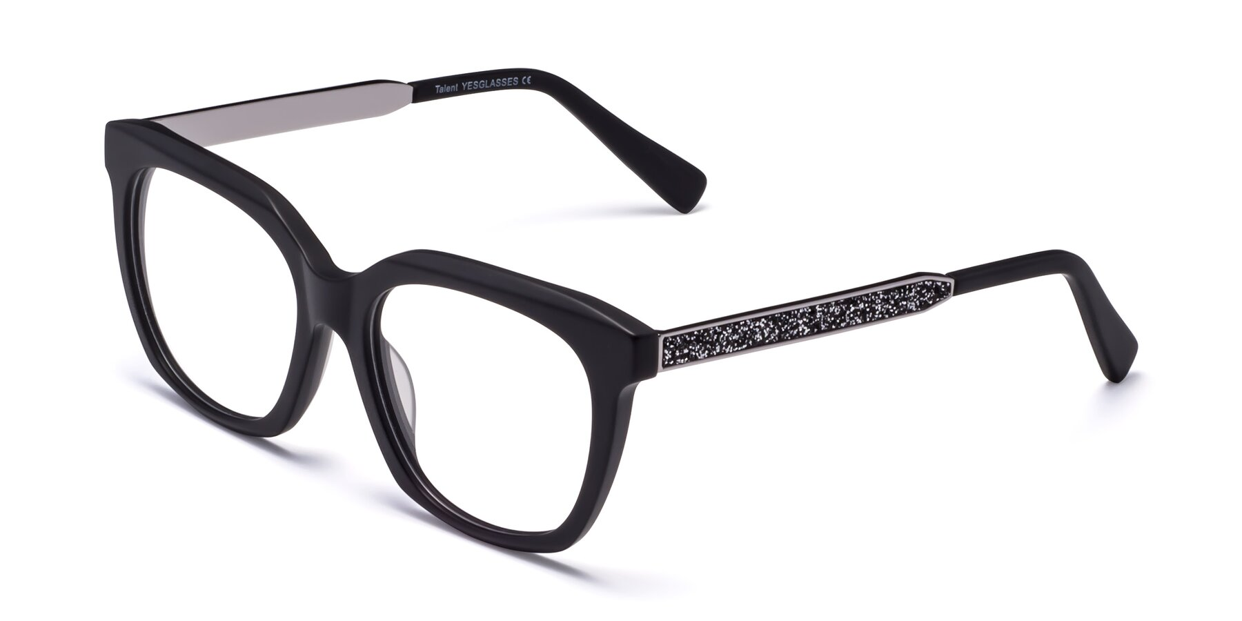 Angle of Talent in Matte Black with Clear Blue Light Blocking Lenses