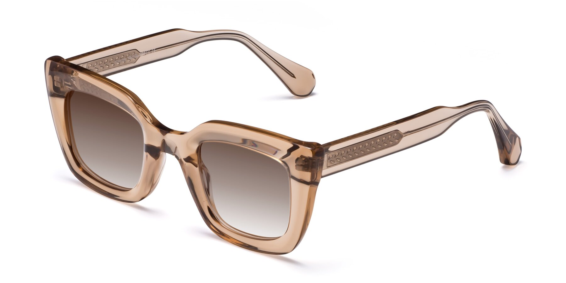 Angle of Homan in Amber with Brown Gradient Lenses