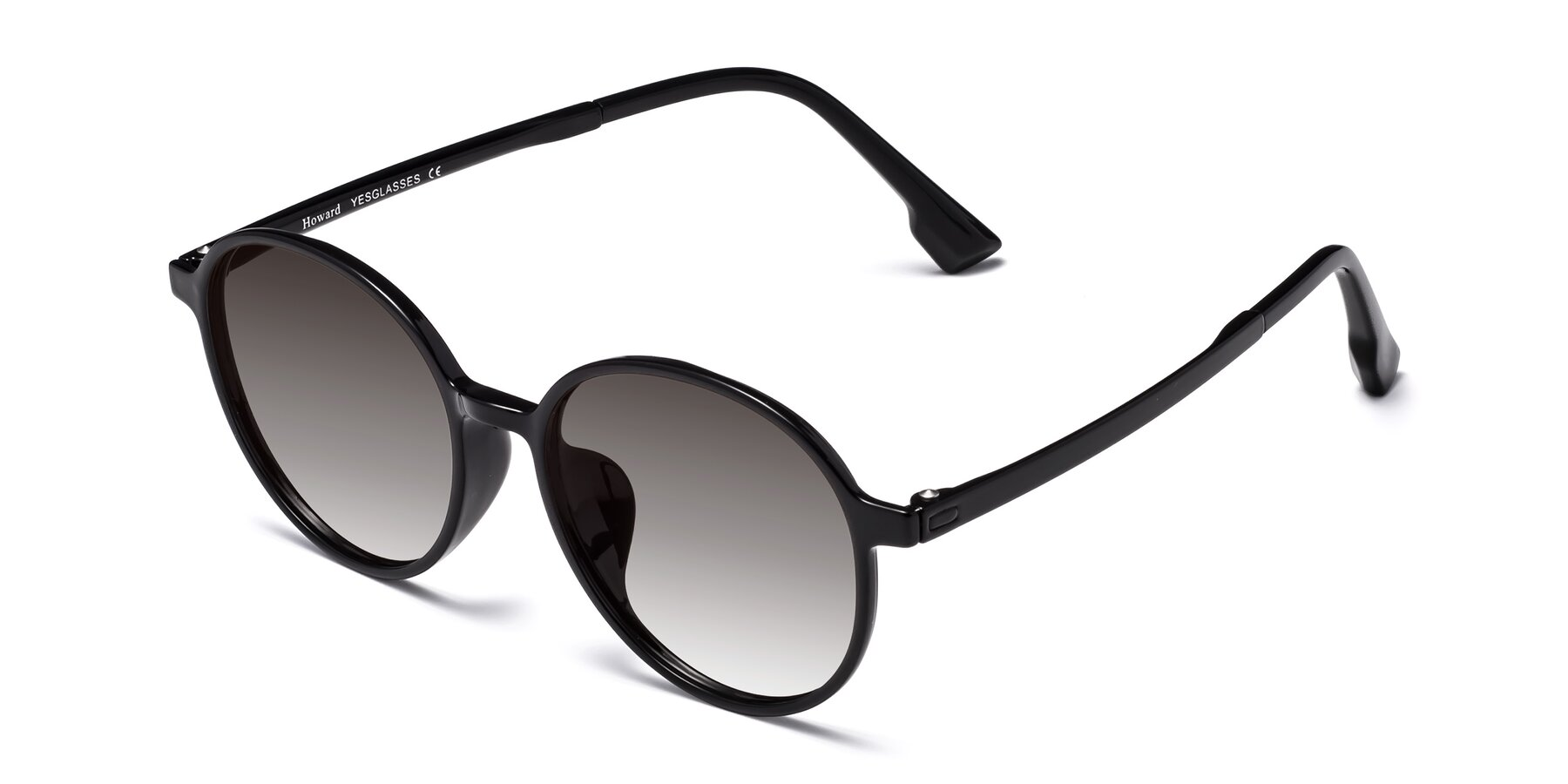 Angle of Howard in Black with Gray Gradient Lenses