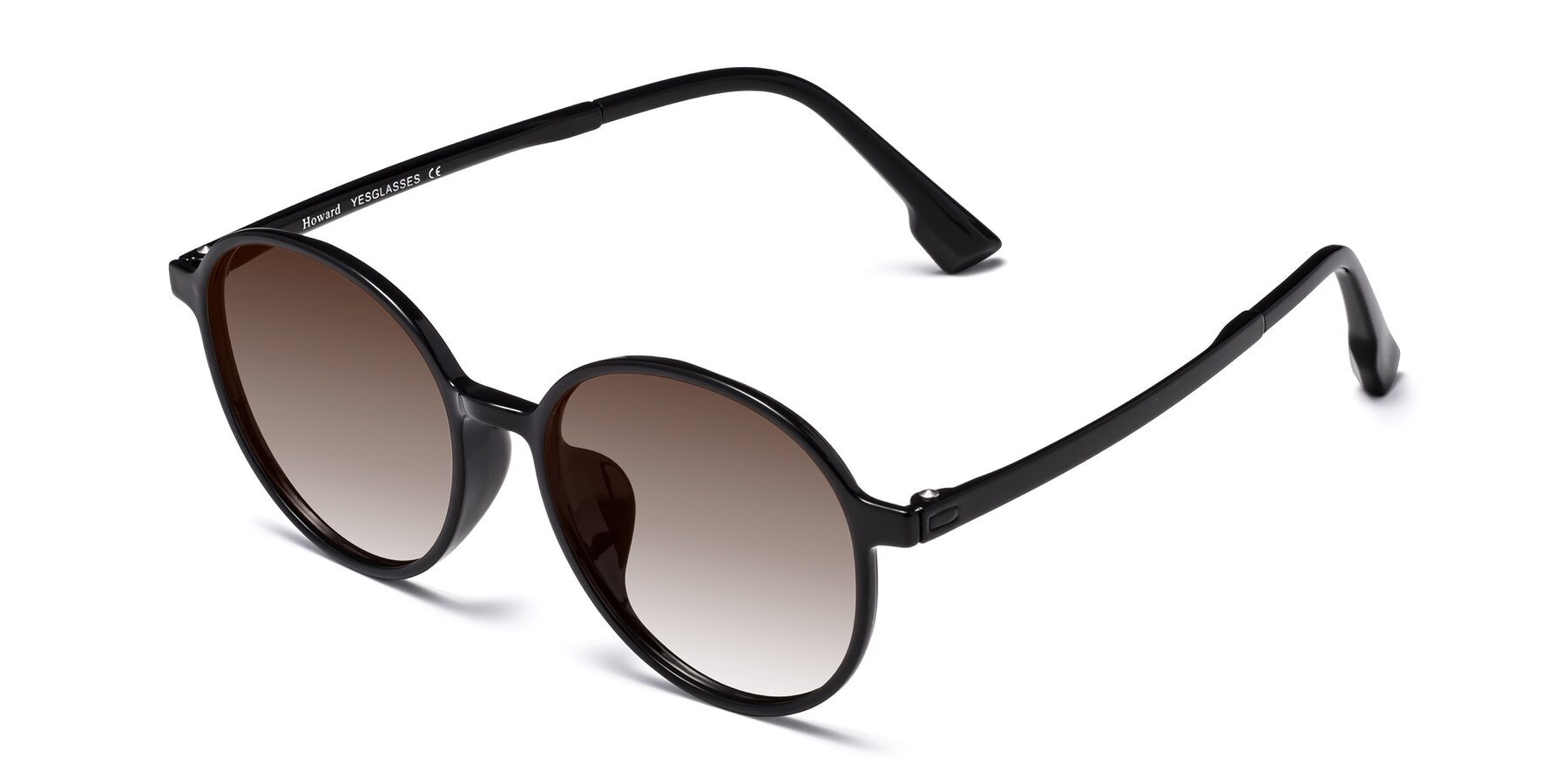 Angle of Howard in Black with Brown Gradient Lenses