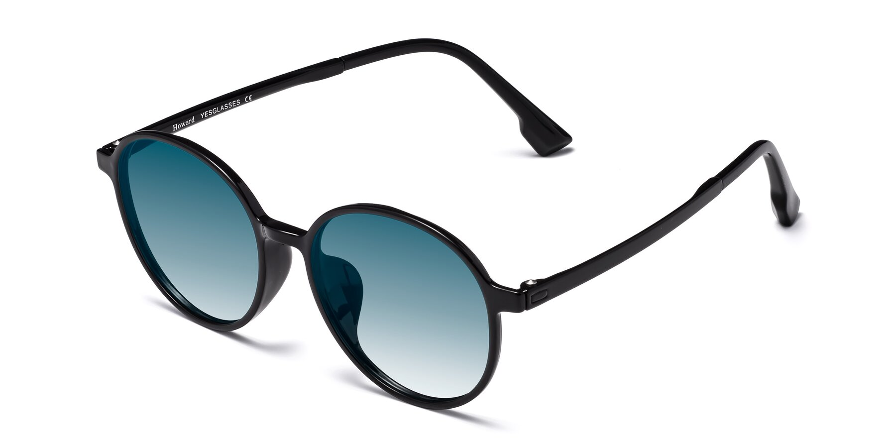 Angle of Howard in Black with Blue Gradient Lenses