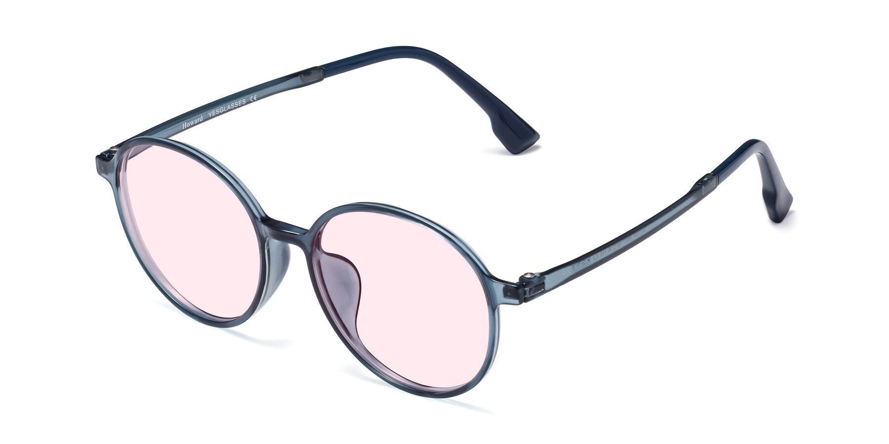 Angle of Howard in Deep Sky Blue with Light Pink Tinted Lenses