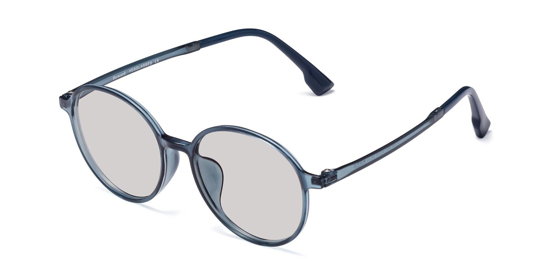 Angle of Howard in Deep Sky Blue with Light Gray Tinted Lenses