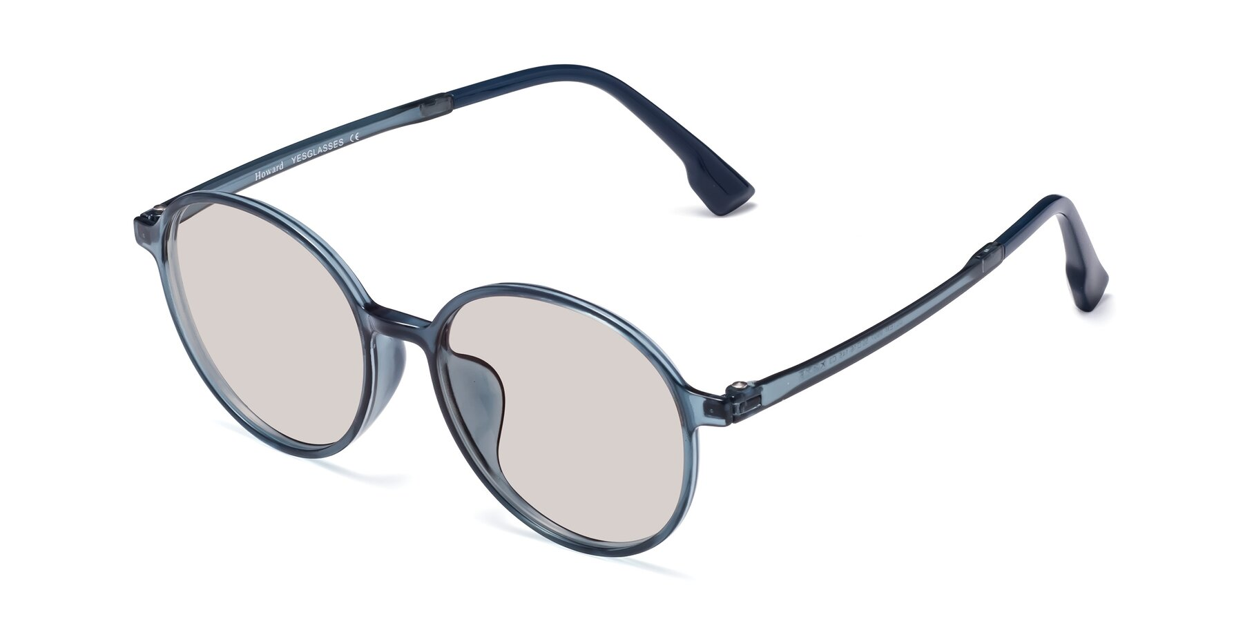 Angle of Howard in Deep Sky Blue with Light Brown Tinted Lenses