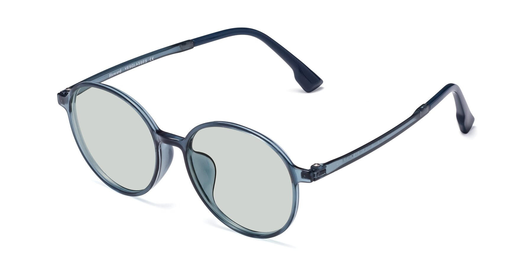 Angle of Howard in Deep Sky Blue with Light Green Tinted Lenses