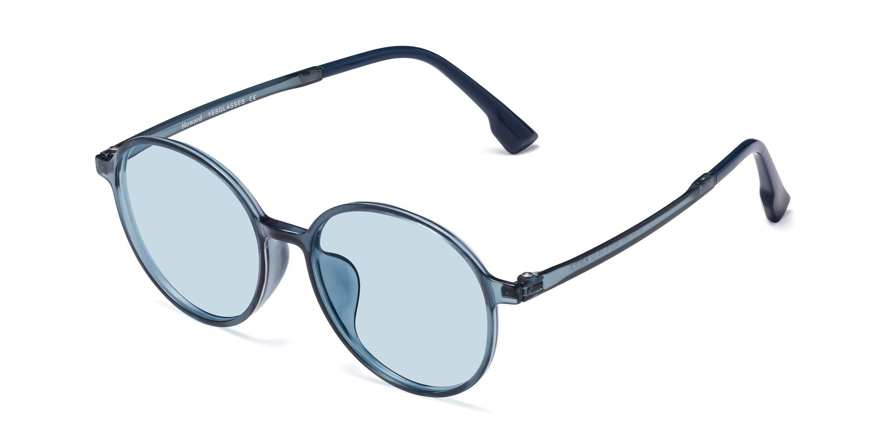 Angle of Howard in Deep Sky Blue with Light Blue Tinted Lenses