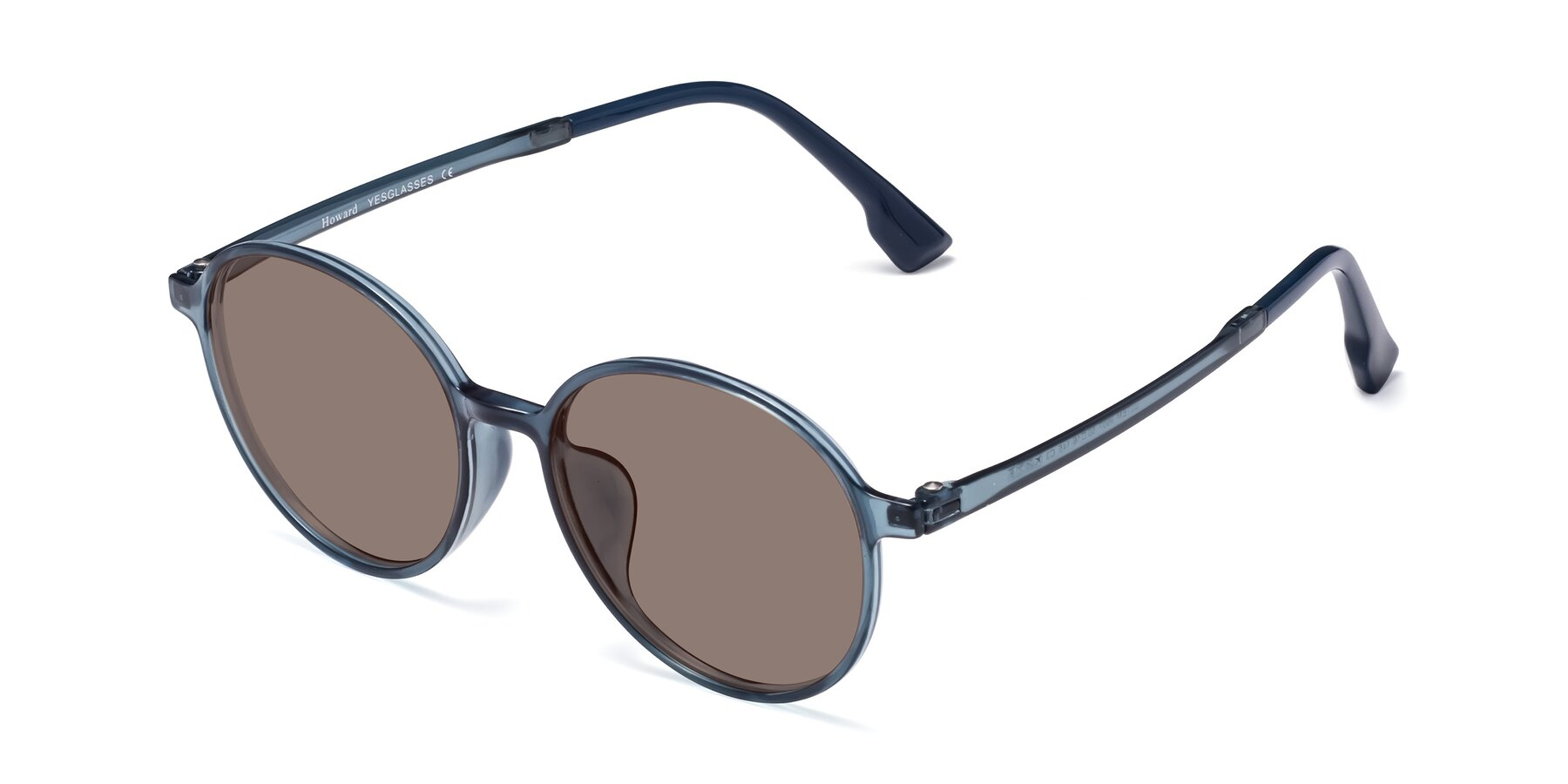 Angle of Howard in Deep Sky Blue with Medium Brown Tinted Lenses