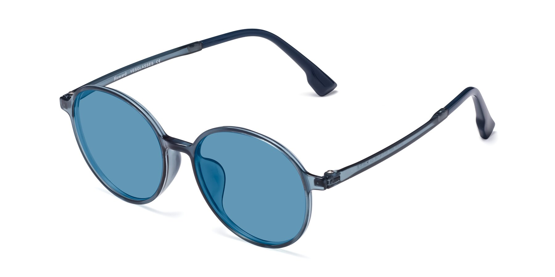 Angle of Howard in Deep Sky Blue with Medium Blue Tinted Lenses