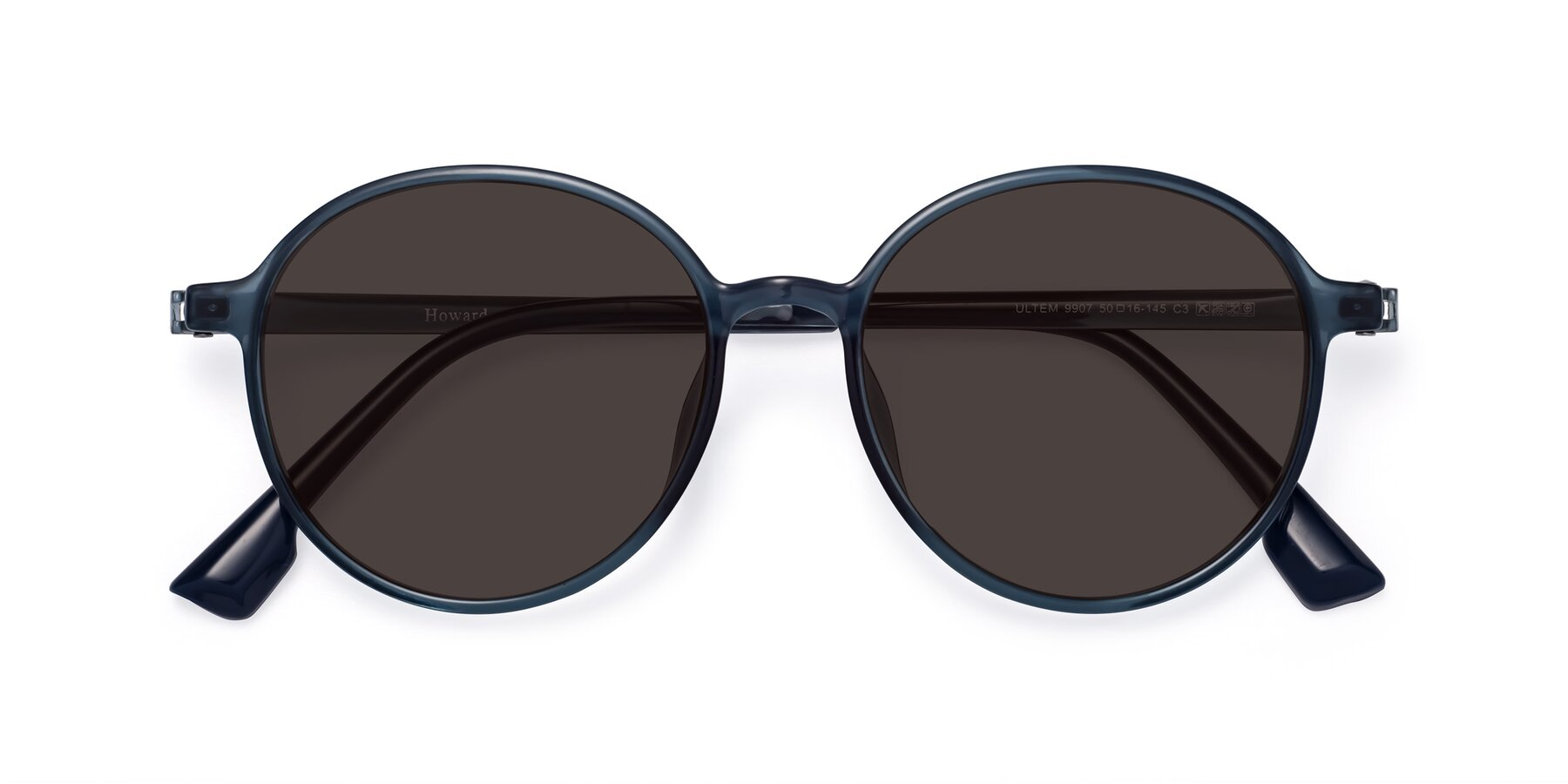 Folded Front of Howard in Deep Sky Blue with Gray Tinted Lenses
