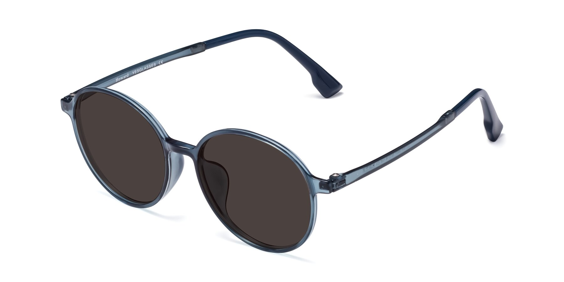 Angle of Howard in Deep Sky Blue with Gray Tinted Lenses