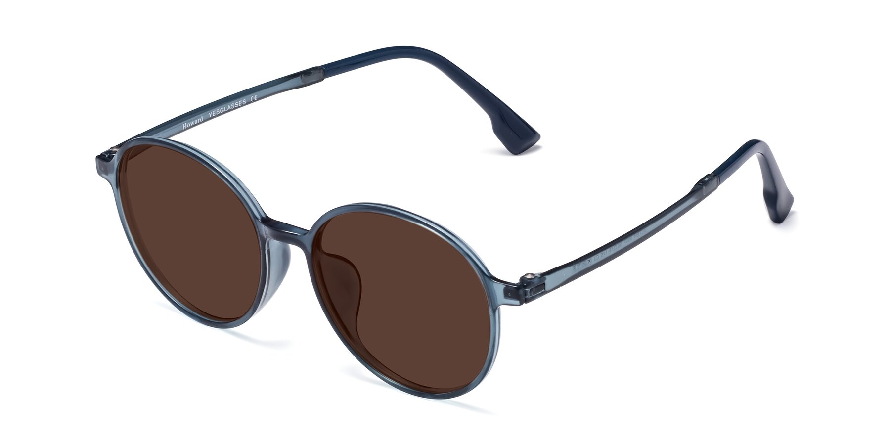 Angle of Howard in Deep Sky Blue with Brown Tinted Lenses