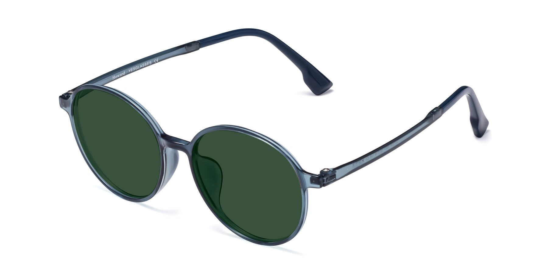 Angle of Howard in Deep Sky Blue with Green Tinted Lenses