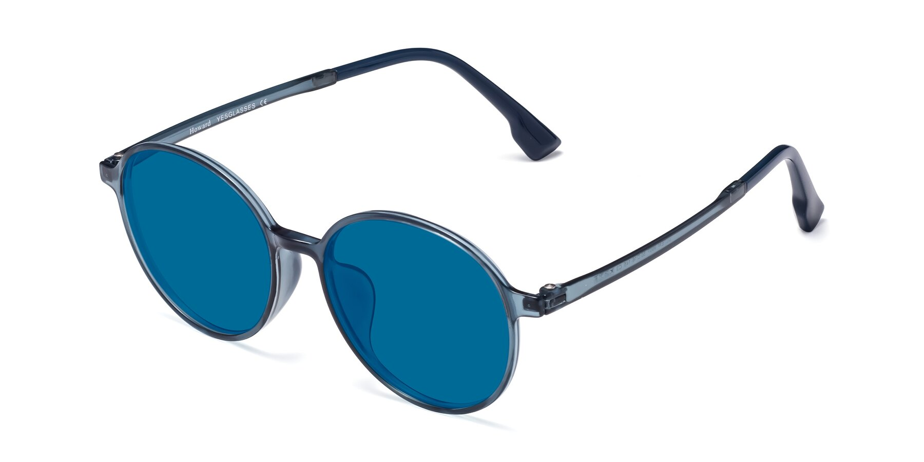 Angle of Howard in Deep Sky Blue with Blue Tinted Lenses