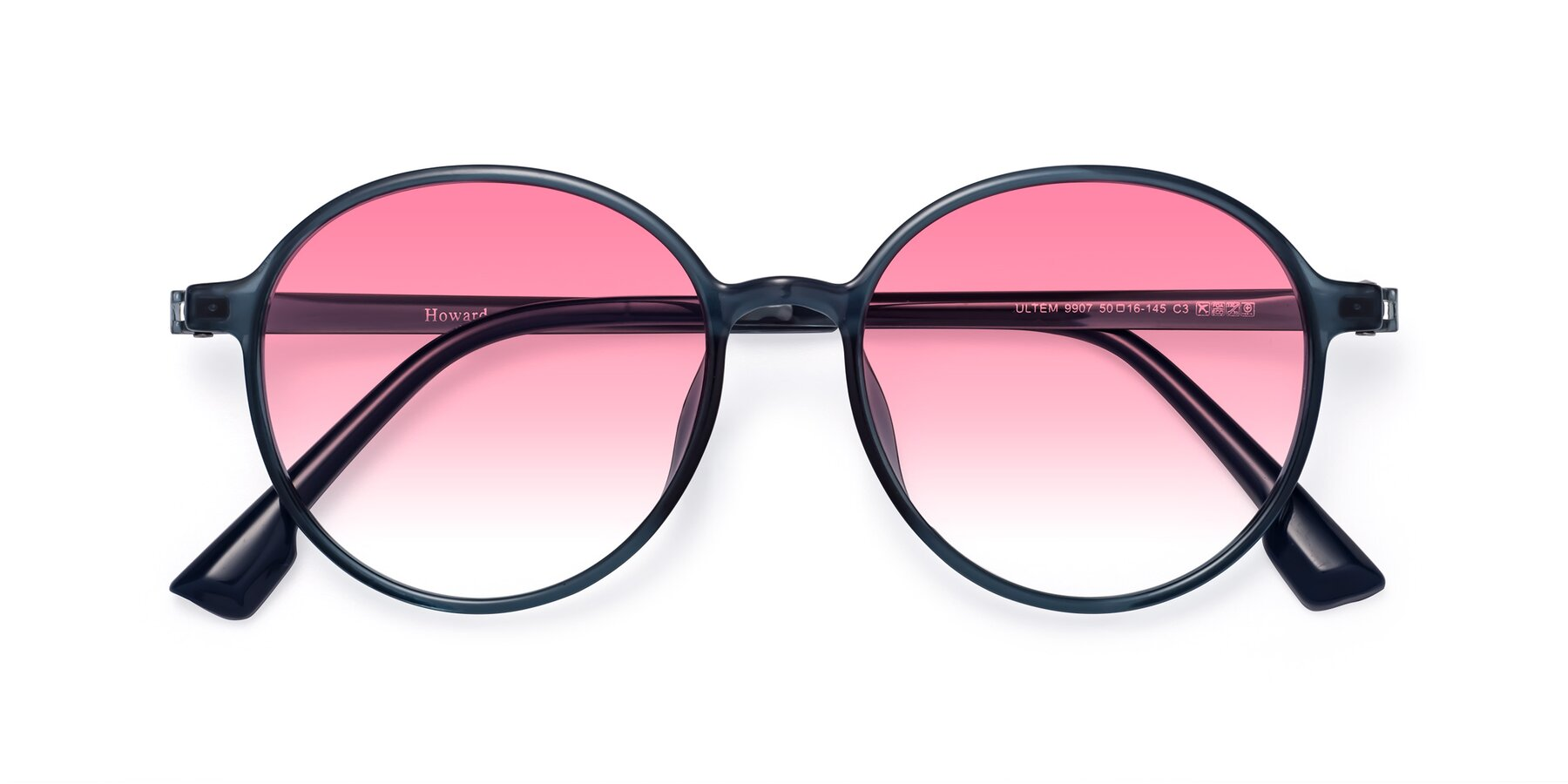 Folded Front of Howard in Deep Sky Blue with Pink Gradient Lenses