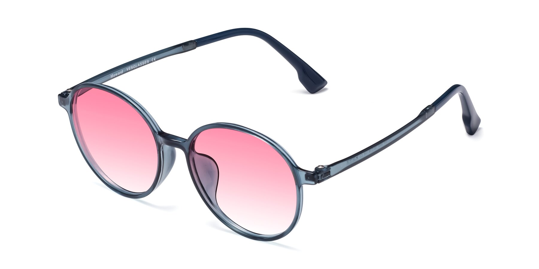Angle of Howard in Deep Sky Blue with Pink Gradient Lenses