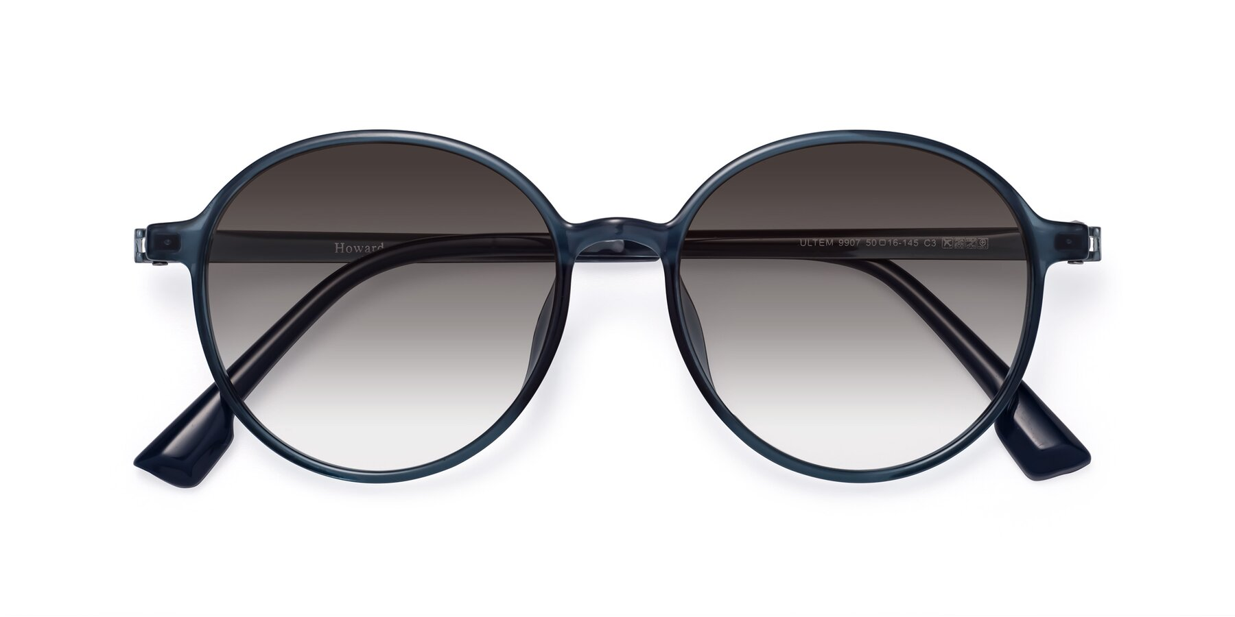 Folded Front of Howard in Deep Sky Blue with Gray Gradient Lenses