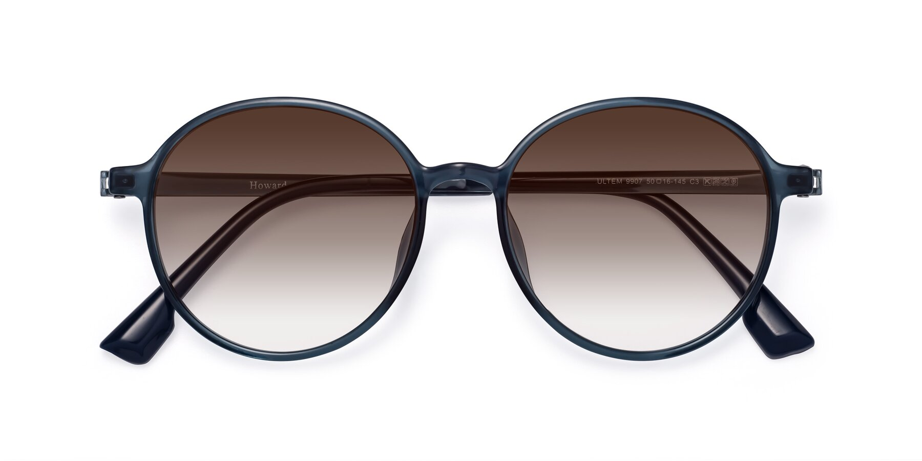 Folded Front of Howard in Deep Sky Blue with Brown Gradient Lenses