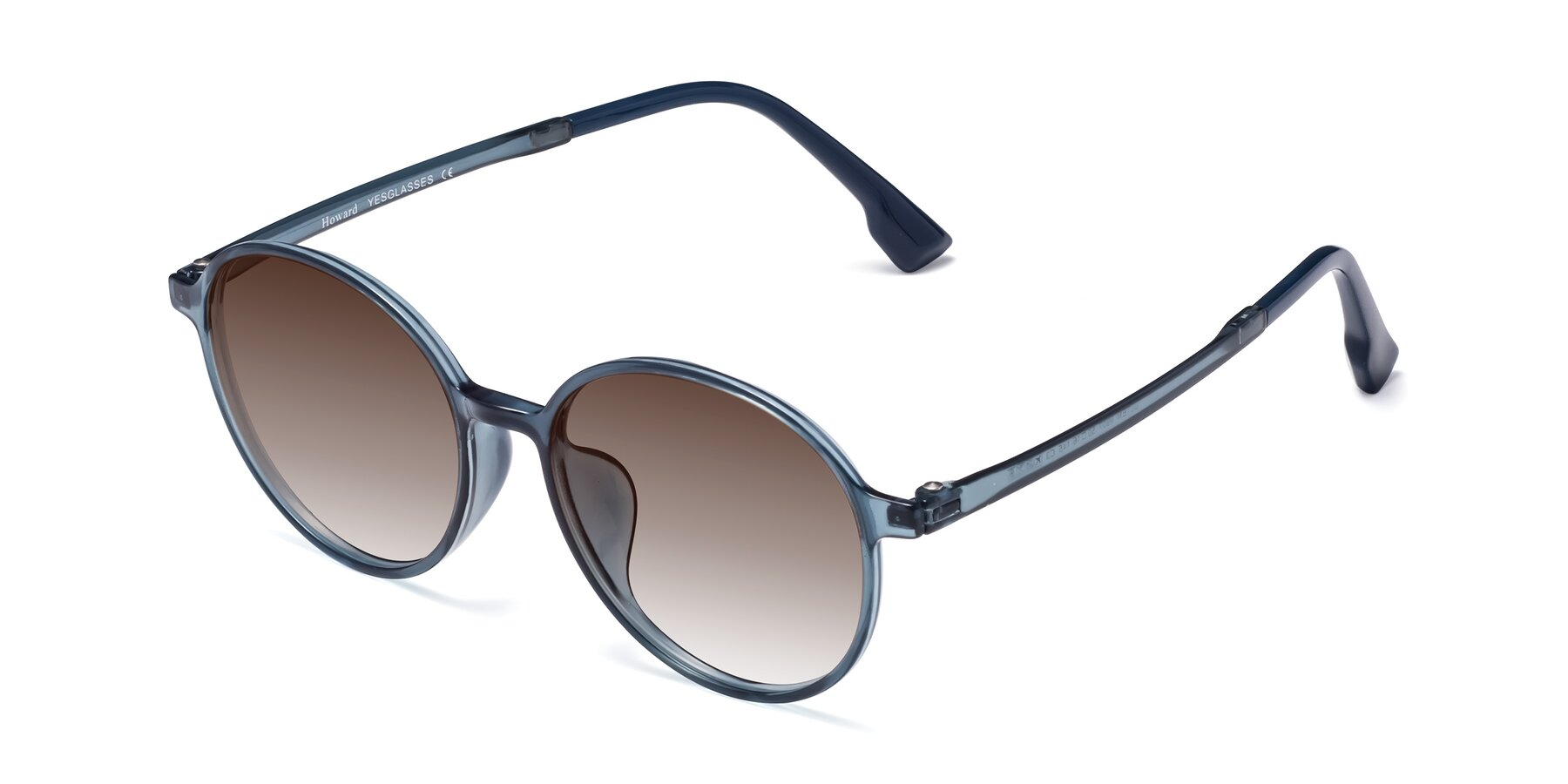 Angle of Howard in Deep Sky Blue with Brown Gradient Lenses