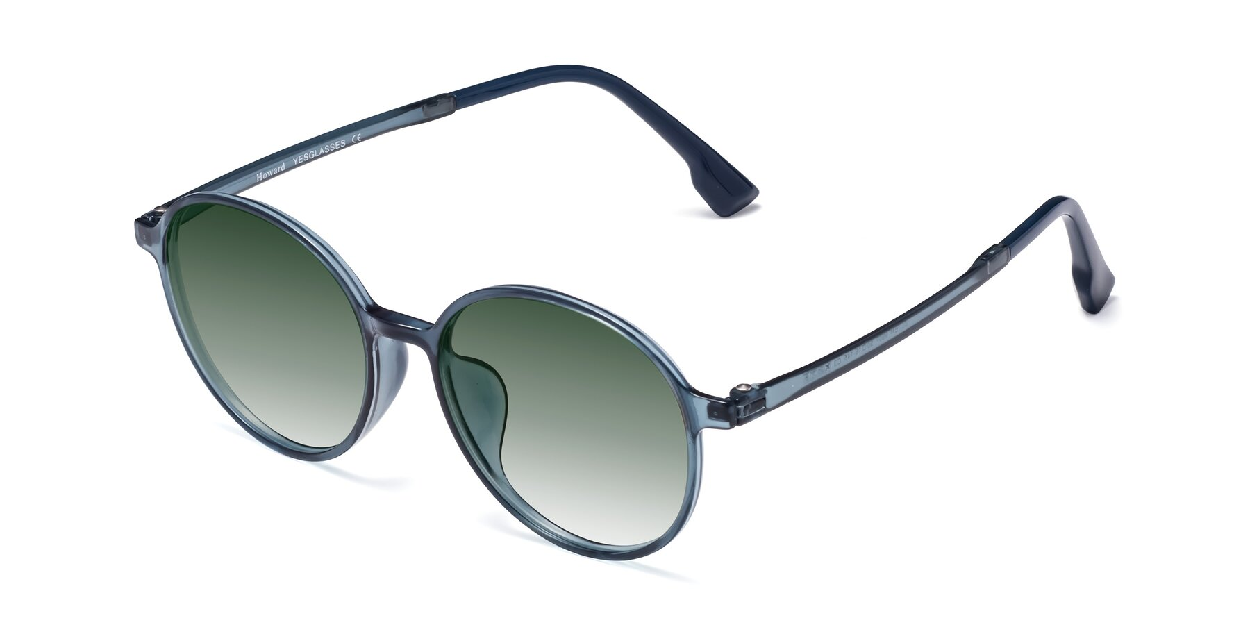 Angle of Howard in Deep Sky Blue with Green Gradient Lenses