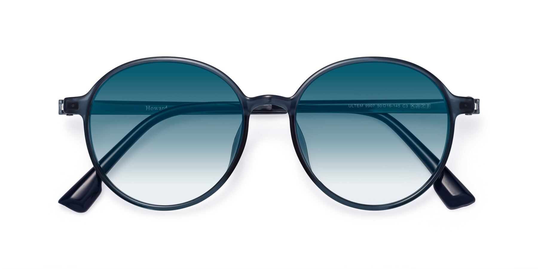 Folded Front of Howard in Deep Sky Blue with Blue Gradient Lenses