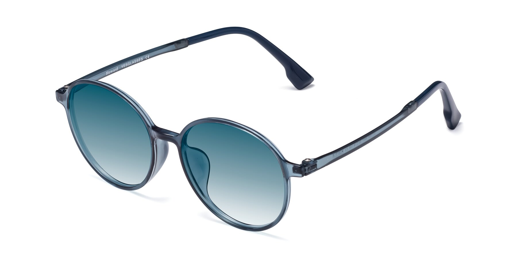 Angle of Howard in Deep Sky Blue with Blue Gradient Lenses