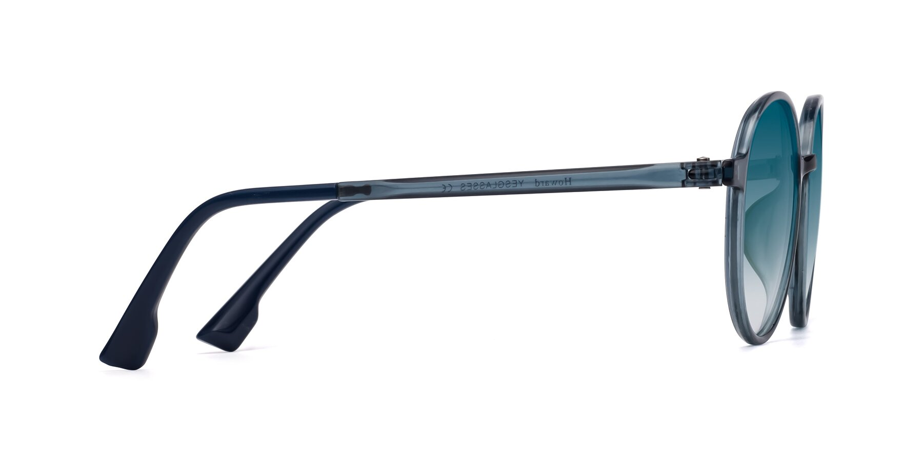 Side of Howard in Deep Sky Blue with Blue Gradient Lenses