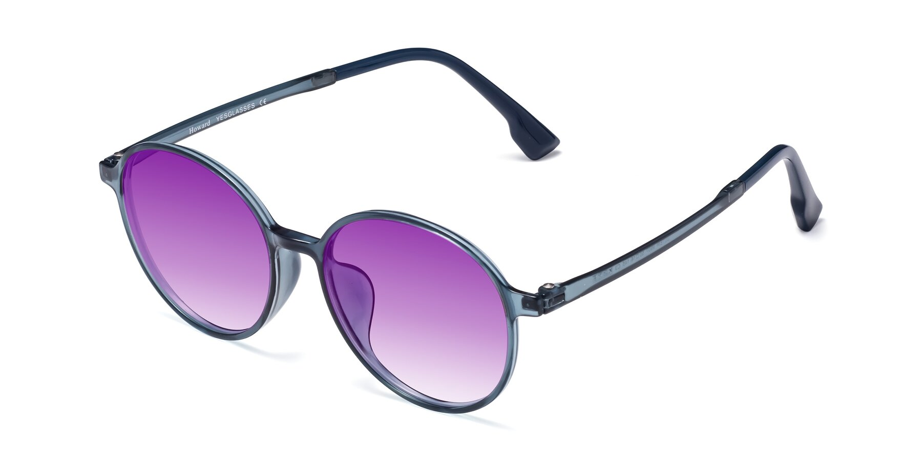 Angle of Howard in Deep Sky Blue with Purple Gradient Lenses