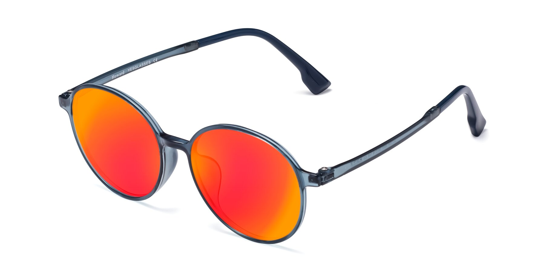 Angle of Howard in Deep Sky Blue with Red Gold Mirrored Lenses