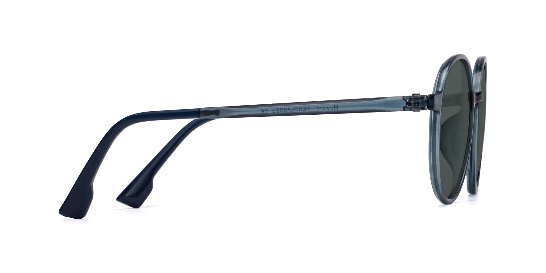 Side of Howard in Deep Sky Blue with Gray Polarized Lenses