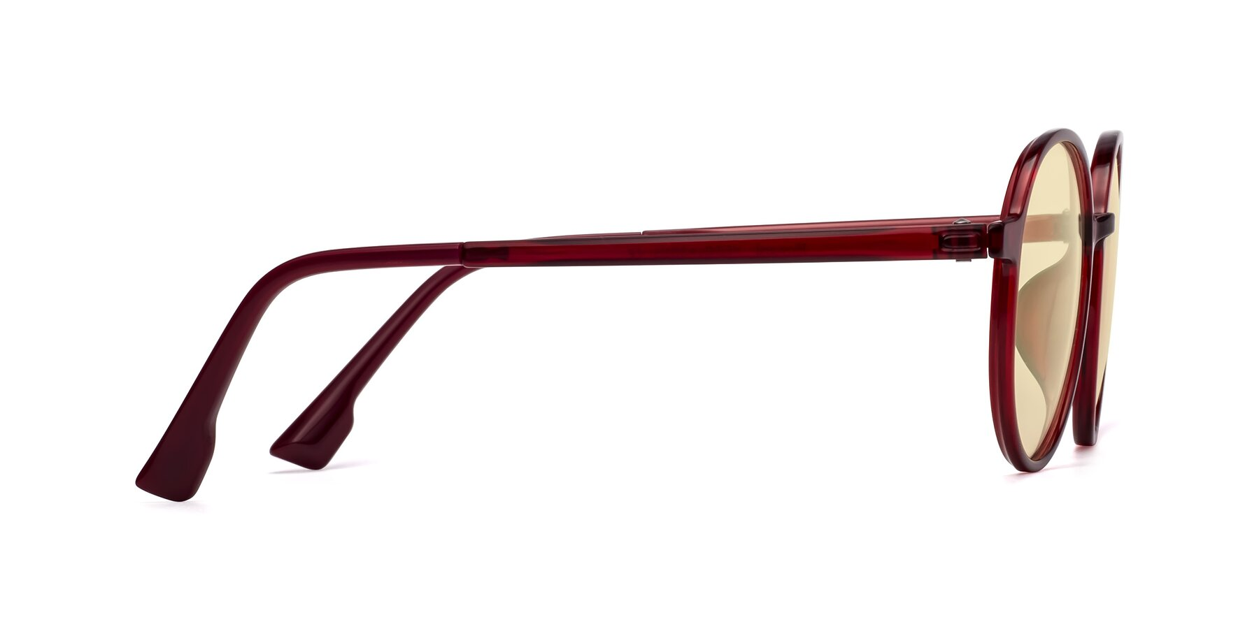 Side of Howard in Wine with Light Yellow Tinted Lenses