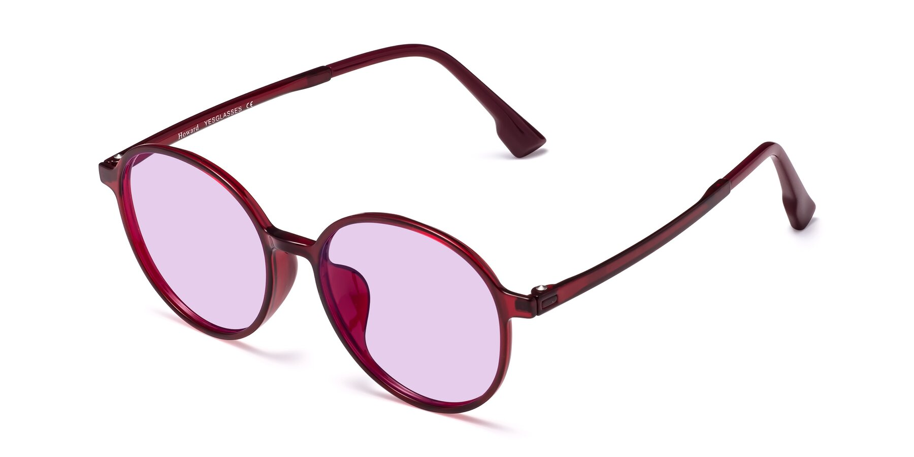 Angle of Howard in Wine with Light Purple Tinted Lenses