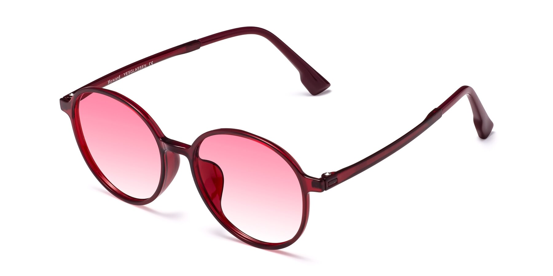 Angle of Howard in Wine with Pink Gradient Lenses