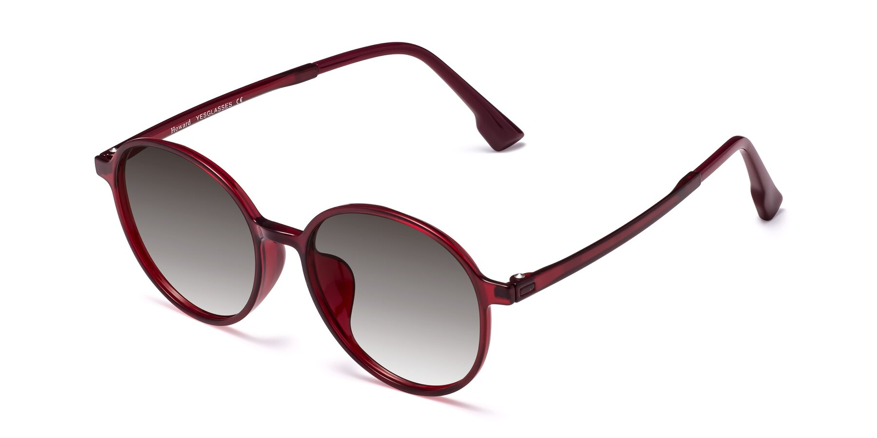 Angle of Howard in Wine with Gray Gradient Lenses