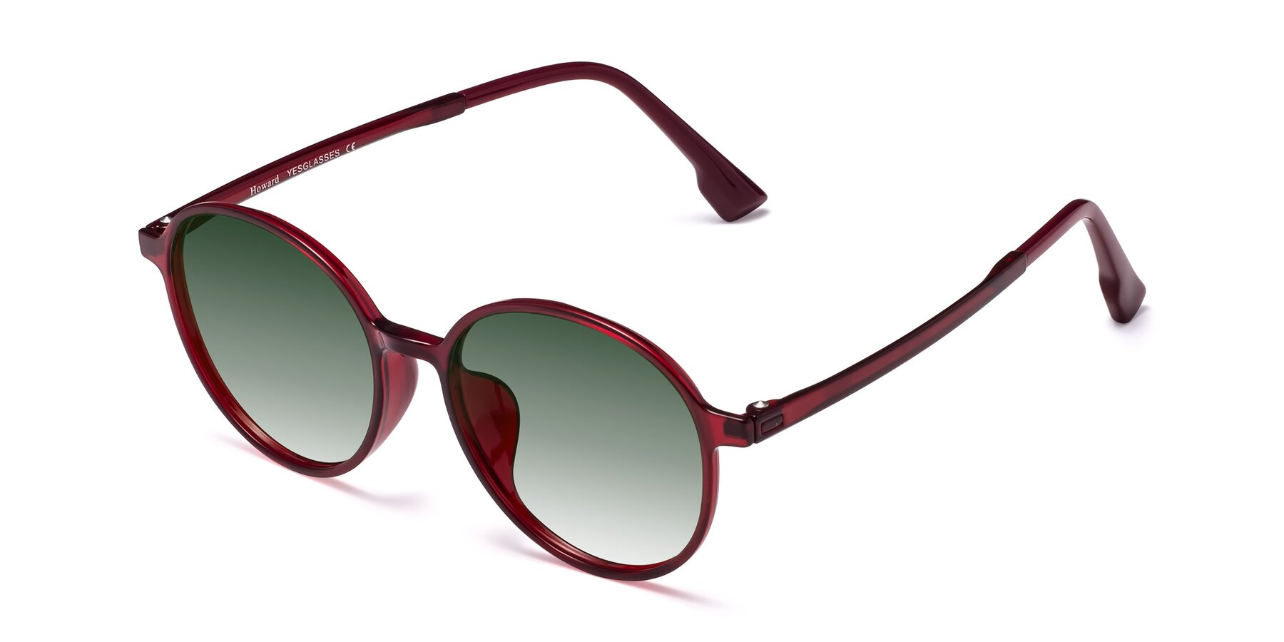 Angle of Howard in Wine with Green Gradient Lenses