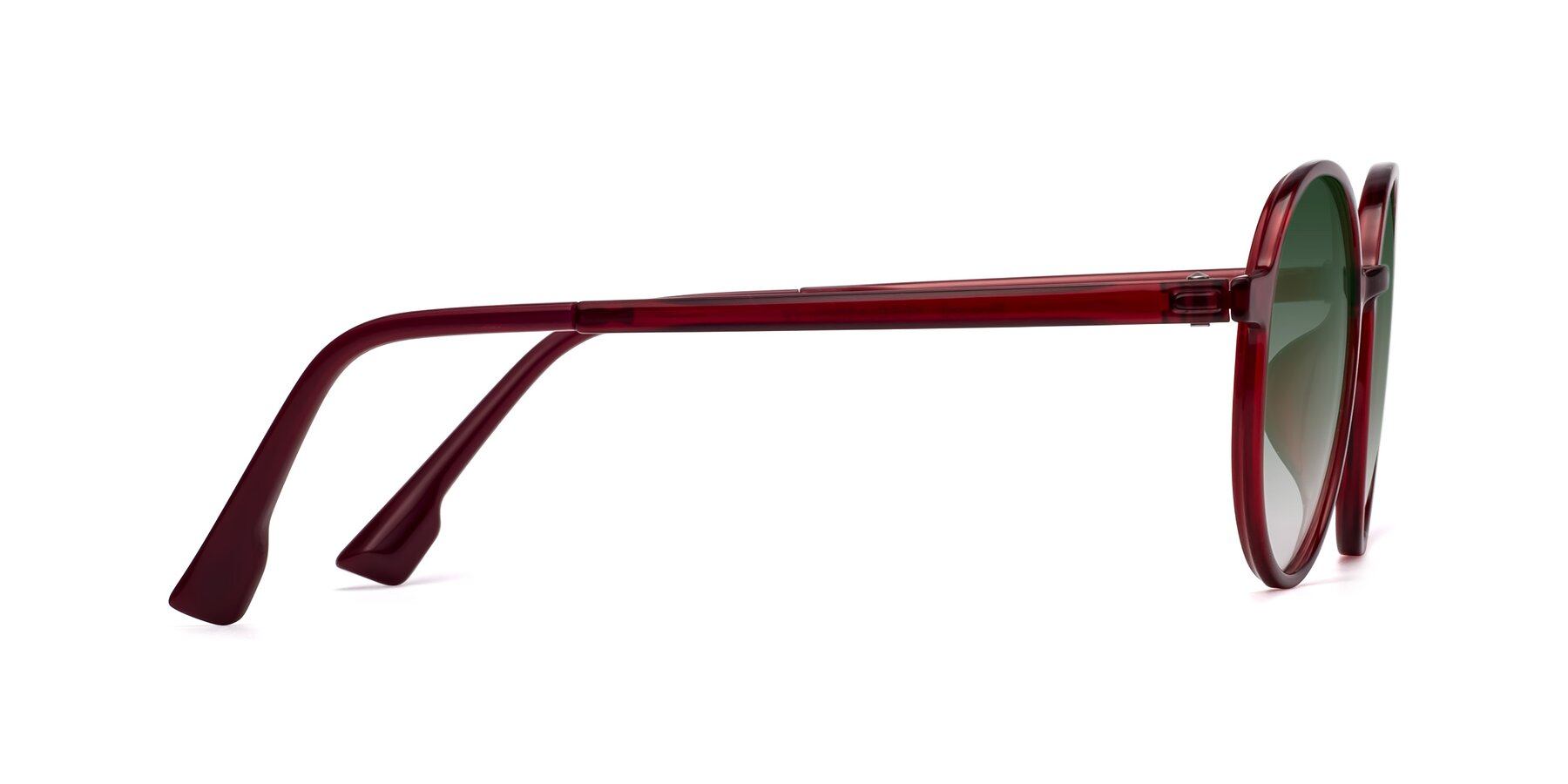 Side of Howard in Wine with Green Gradient Lenses