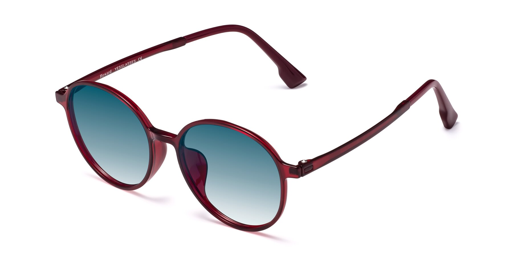 Angle of Howard in Wine with Blue Gradient Lenses