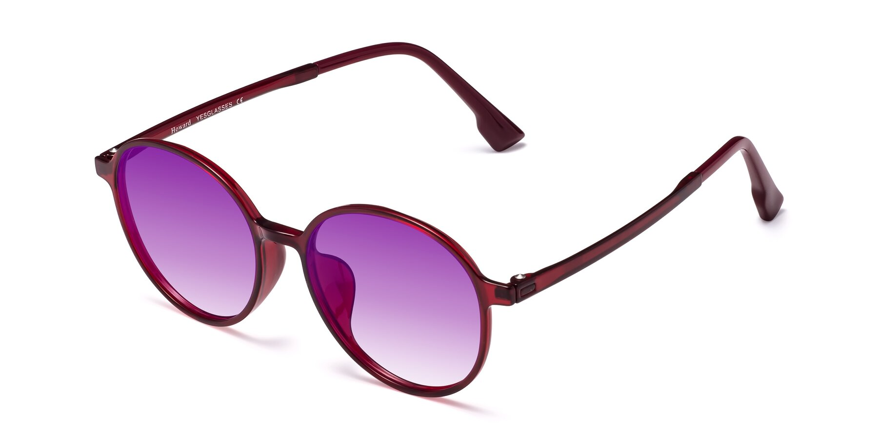 Angle of Howard in Wine with Purple Gradient Lenses