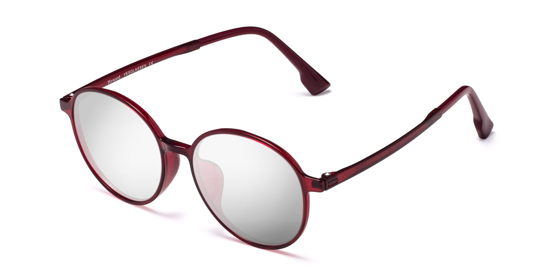 Angle of Howard in Wine with Silver Mirrored Lenses