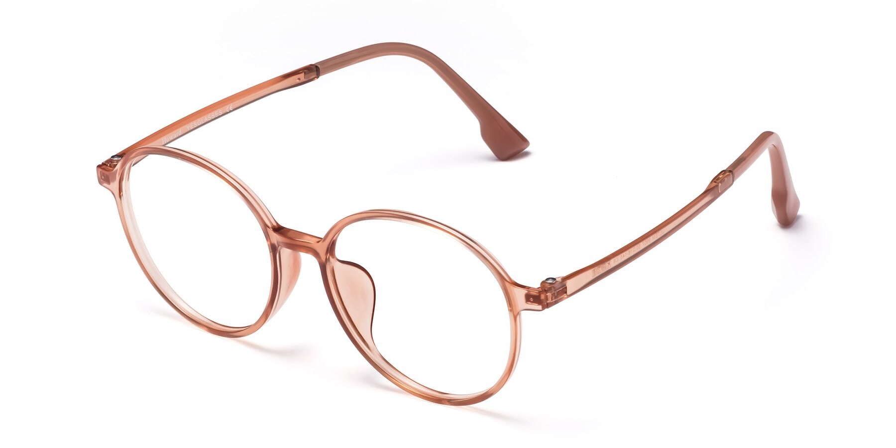 Angle of Howard in Coral with Clear Eyeglass Lenses