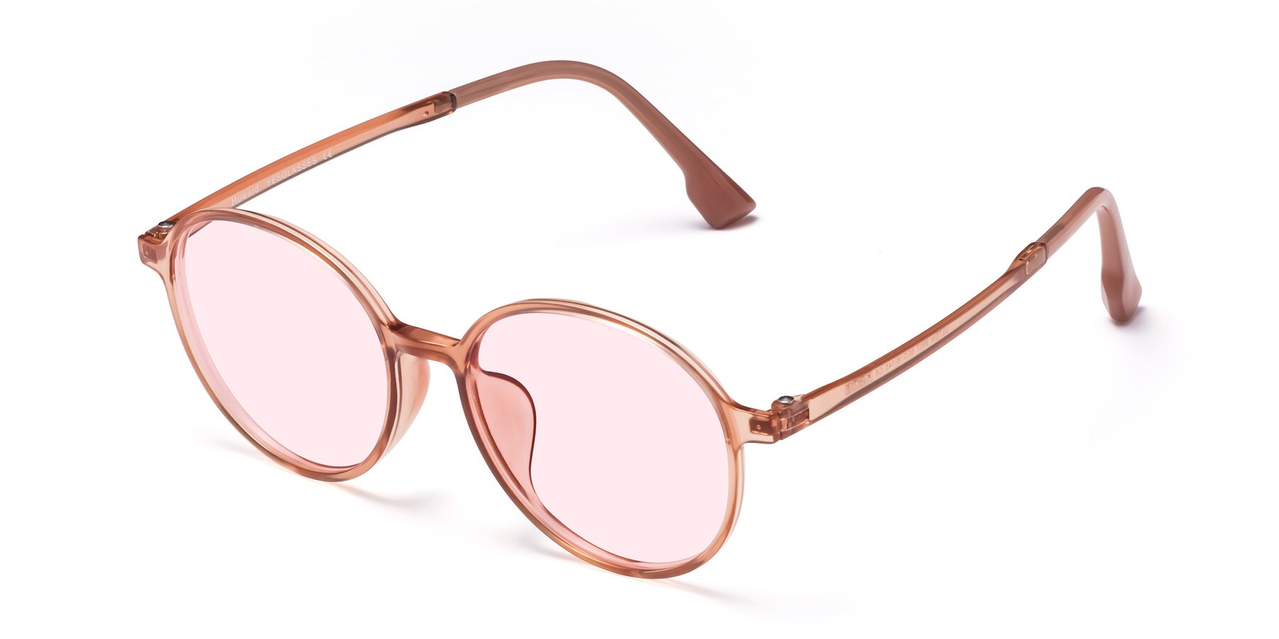 Angle of Howard in Coral with Light Pink Tinted Lenses