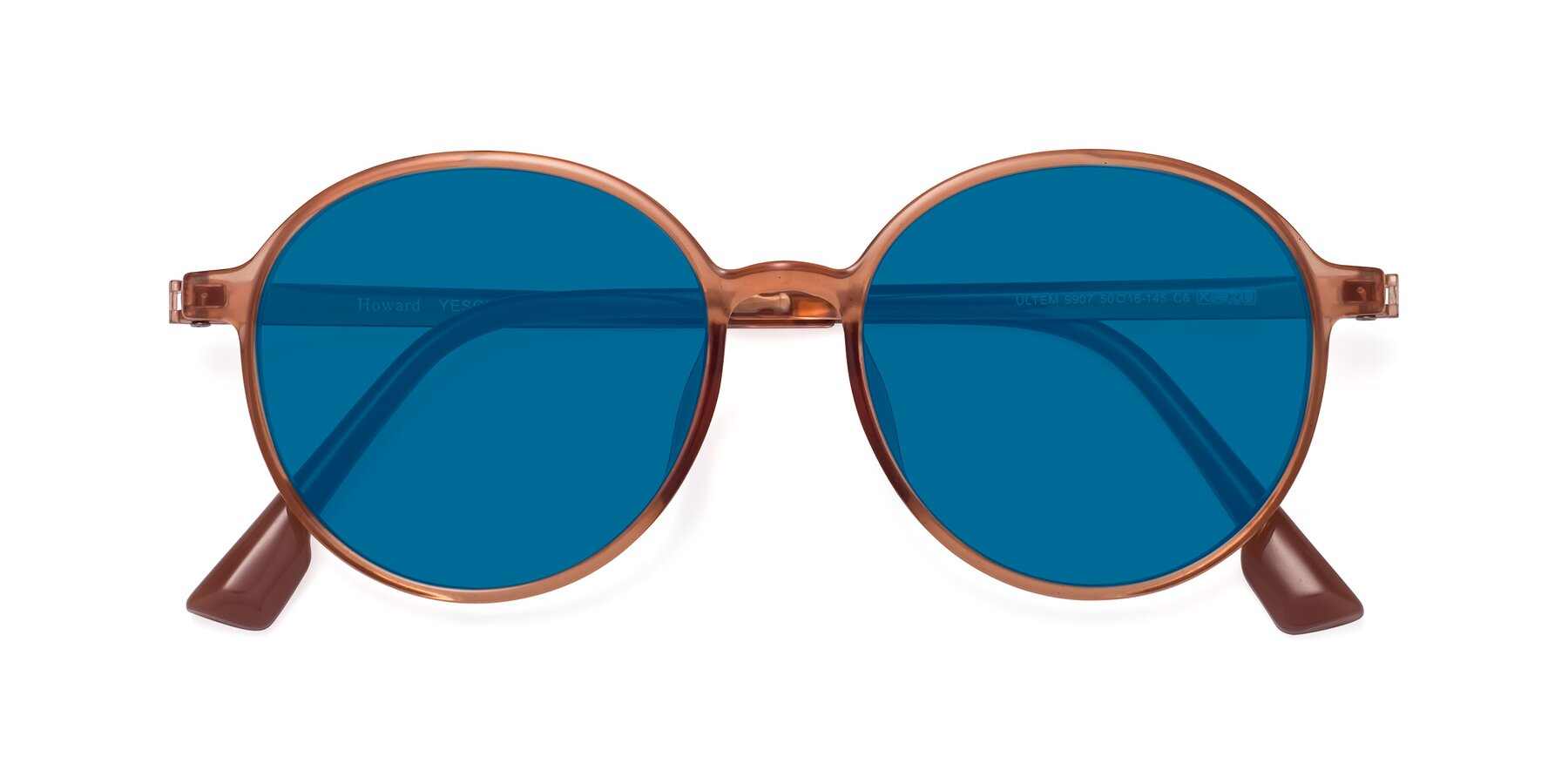 Folded Front of Howard in Coral with Blue Tinted Lenses