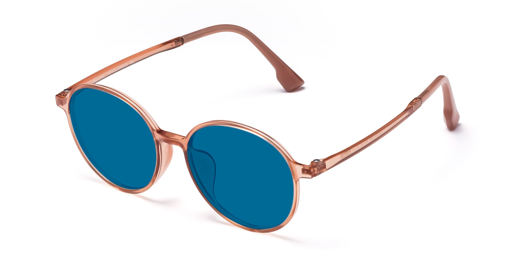 Angle of Howard in Coral with Blue Tinted Lenses